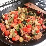 Grillezett zöldségek akertből