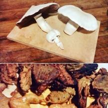 Gomba pakora Péter szedte gombákból :)