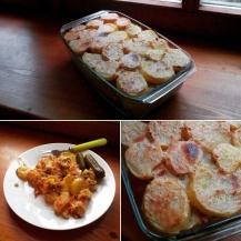 Lóri-Nina fúziós rakottkrumpli Tamásék konyhájában :)